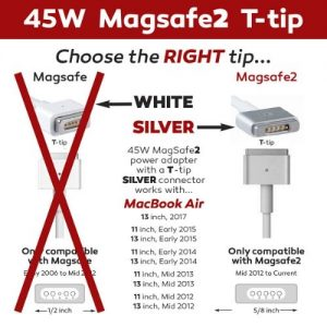 MacBook Charger Mag2 T Tip 45W