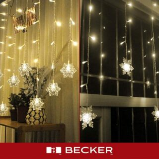 Snowflake LED Lights Curtain